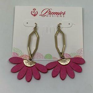 Premier Designs IN BLOOM Earrings Gold Flower
